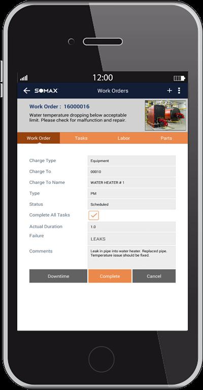 Mobile Work Order Completion